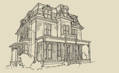 Victoria heritage foundation architectural styles for French mansard house plans